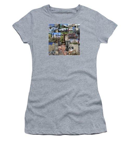 Women's T-Shirt (Junior Cut) featuring the photograph Cincinnati's Favorite Landmarks by Robert Glover