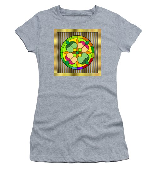 Circle On Bars 2 Women's T-Shirt (Athletic Fit)