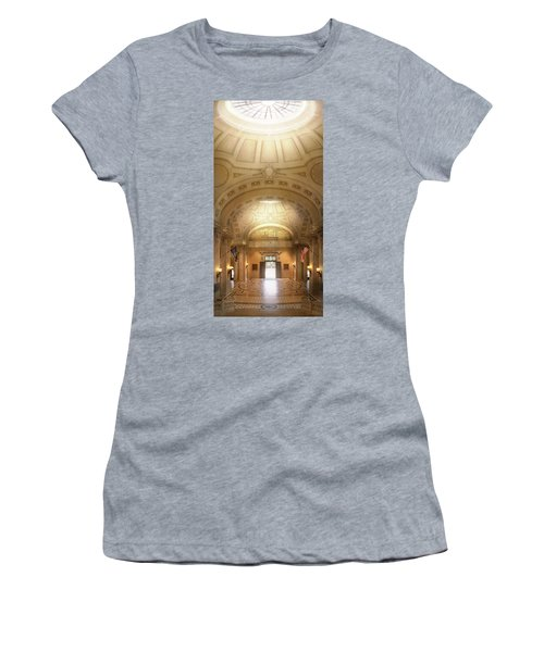 Women's T-Shirt (Athletic Fit) featuring the photograph City - Annapolis Md - Bancroft Hall by Mike Savad