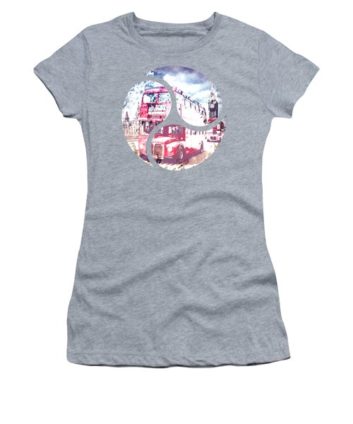 City-art London Red Buses On Westminster Bridge Women's T-Shirt