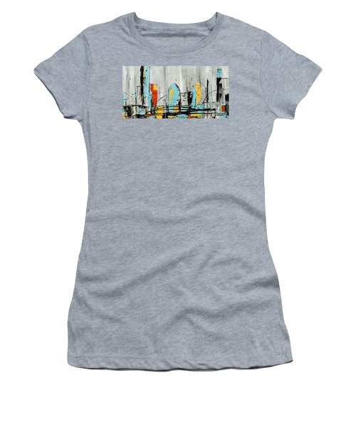 Women's T-Shirt (Junior Cut) featuring the painting City Limits by Carmen Guedez