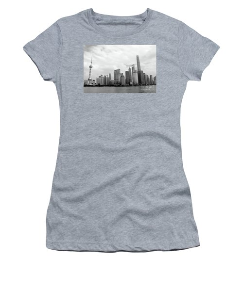 Women's T-Shirt (Junior Cut) featuring the photograph City Skyline by MGL Meiklejohn Graphics Licensing
