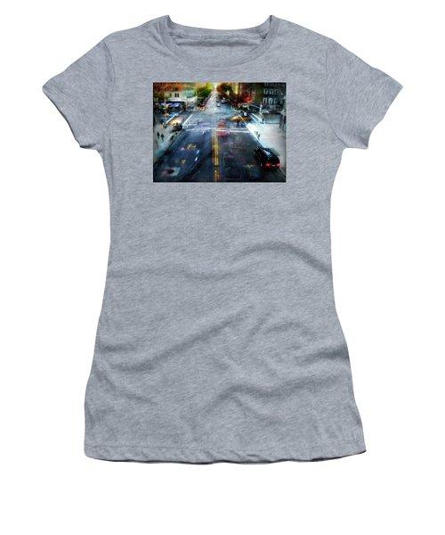 Women's T-Shirt (Junior Cut) featuring the photograph Cityscape 39 - Crossroads by Alfredo Gonzalez