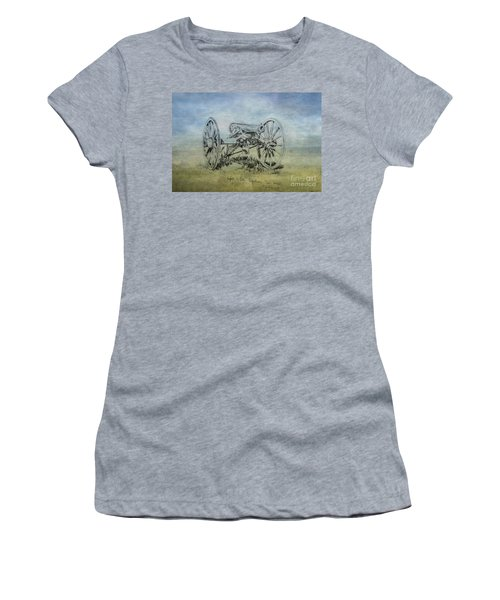 Civil War Cannon Sketch  Women's T-Shirt (Junior Cut) by Randy Steele