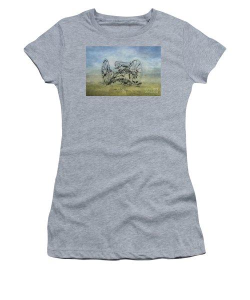 Civil War Cannon Sketch  Women's T-Shirt (Athletic Fit)