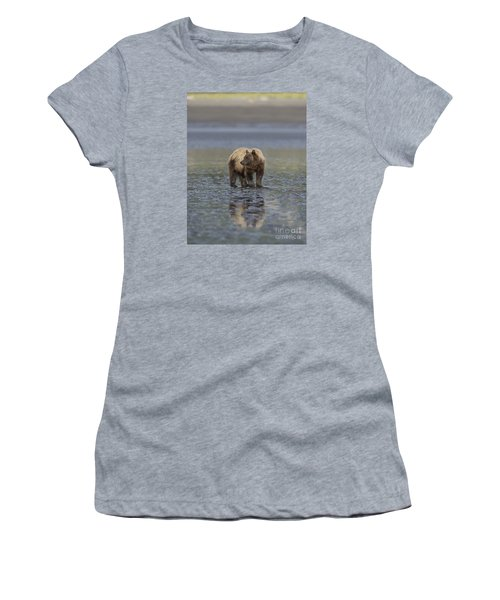 Women's T-Shirt (Junior Cut) featuring the photograph Clamming The Day Away by Sandra Bronstein