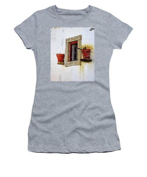 Clay Pots In A Portuguese Village Women's T-Shirt (Athletic Fit)