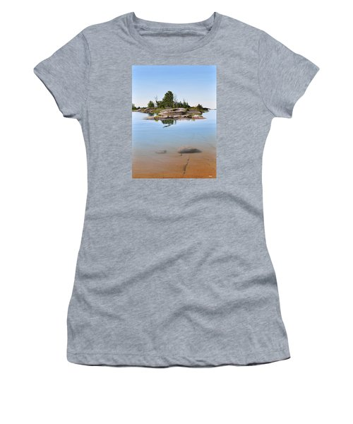 Women's T-Shirt (Junior Cut) featuring the painting Clear Contentment by Kenneth M Kirsch