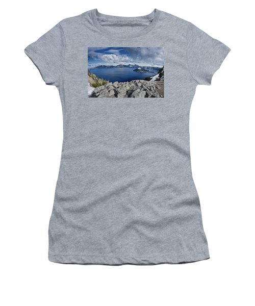 Clearing Storm At Crater Lake Women's T-Shirt (Athletic Fit)