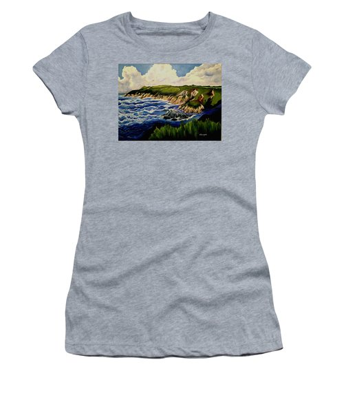 Cliffs And Sea Women's T-Shirt