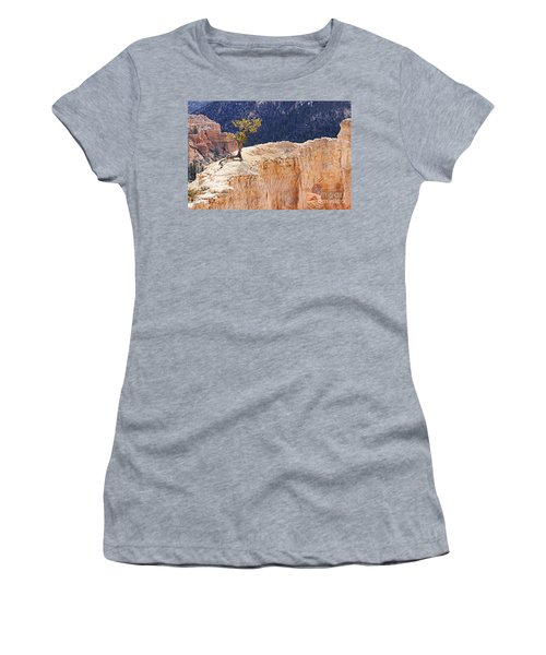 Clinging To The Top Of The Wall Women's T-Shirt
