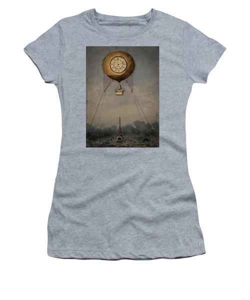 Clock Over Paris Women's T-Shirt (Athletic Fit)