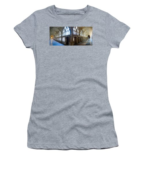 Women's T-Shirt (Junior Cut) featuring the photograph Cloisters, Gloucester Cathedral by Colin Rayner