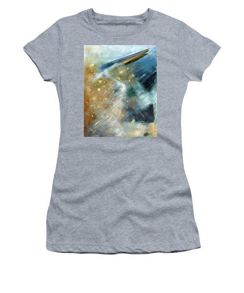 Close Encounter With A Great Blue Women's T-Shirt (Athletic Fit)
