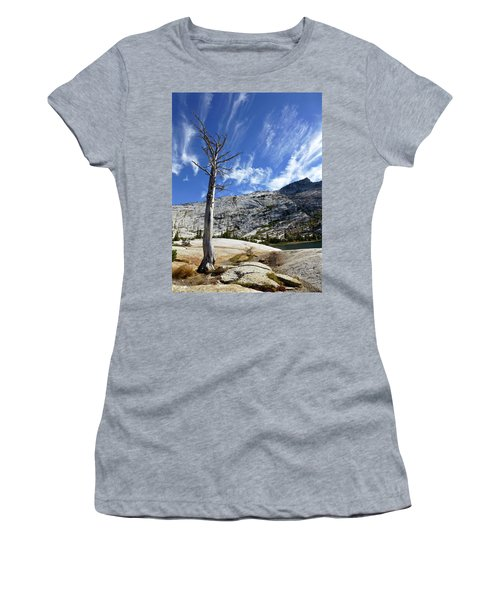 Cloud Stretch Lower Cathedral Lake Women's T-Shirt (Junior Cut) by Amelia Racca