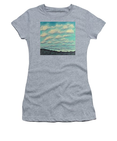 Cloud Study Cropped Image Women's T-Shirt (Athletic Fit)