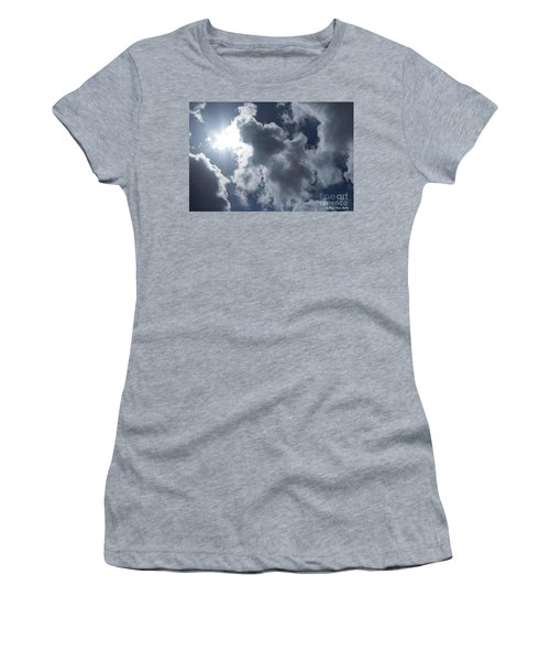 Women's T-Shirt (Athletic Fit) featuring the photograph Clouds And Sunlight by Megan Dirsa-DuBois