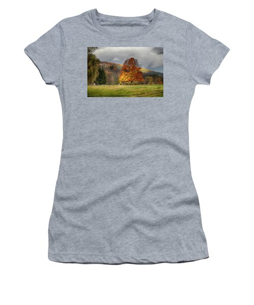 Clouds Part Over Marsh Billings-rockefeller Nhp Women's T-Shirt