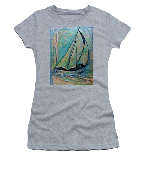 Coastal Metallic Women's T-Shirt (Athletic Fit)