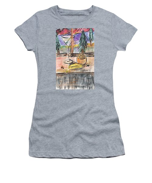 Cocktail At Tahoe  Women's T-Shirt (Athletic Fit)