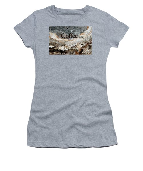 Coffee Edit 2 Brown Letters Women's T-Shirt (Junior Cut) by Margie Chapman