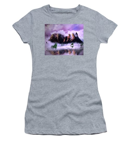Cold Mountain Morning Women's T-Shirt (Athletic Fit)