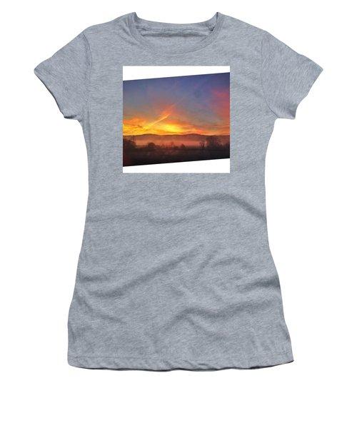 #college #sunrise #slant #crop #sun Women's T-Shirt