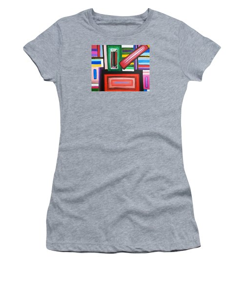 Color Squares Women's T-Shirt (Athletic Fit)