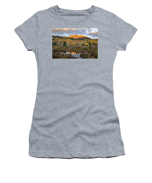 Women's T-Shirt (Junior Cut) featuring the photograph Colorado Sunrise by Phyllis Peterson