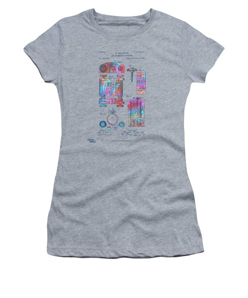 Colorful 1889 First Computer Patent Women's T-Shirt
