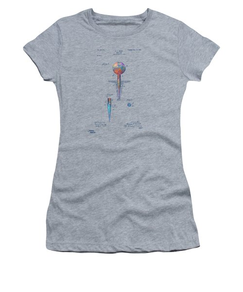 Colorful 1899 Golf Tee Patent Women's T-Shirt (Athletic Fit)