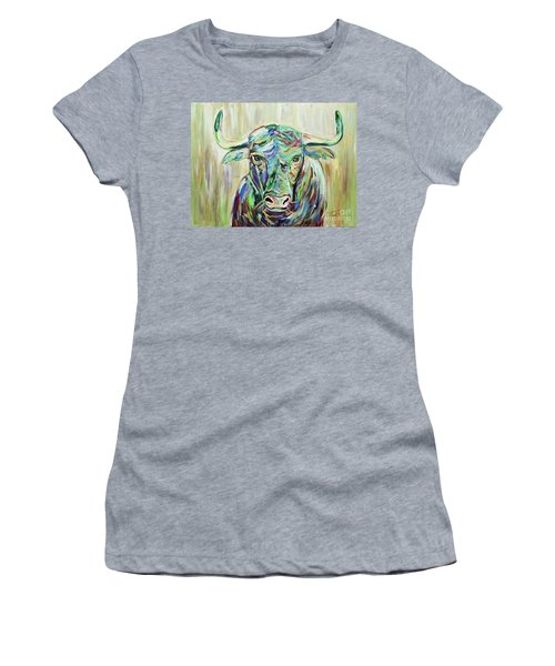 Colorful Bull Women's T-Shirt (Junior Cut) by Jeanne Forsythe