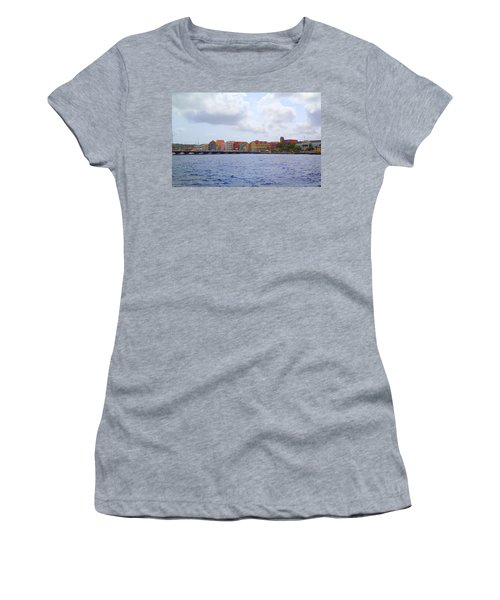 Colorful Curacao Women's T-Shirt (Junior Cut) by Lois Lepisto