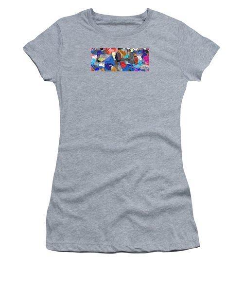 Women's T-Shirt (Junior Cut) featuring the digital art Colorful Daydream by Gabrielle Schertz