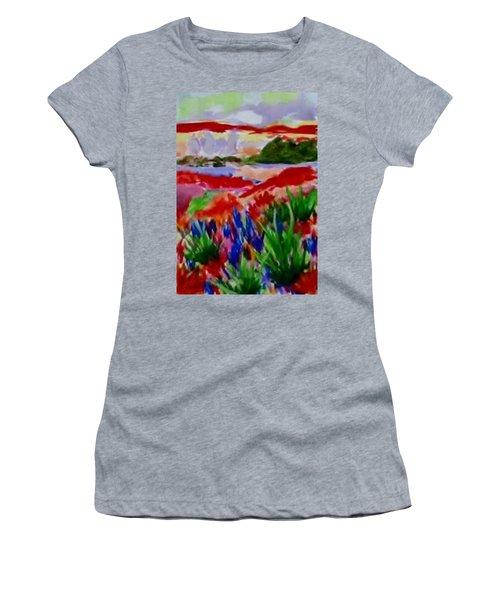 Colorful Women's T-Shirt (Junior Cut) by Jamie Frier