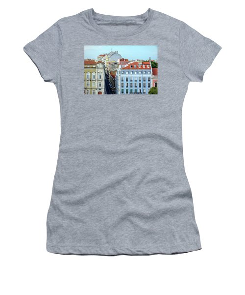 Women's T-Shirt (Junior Cut) featuring the photograph Colorful Lisbon by Marion McCristall