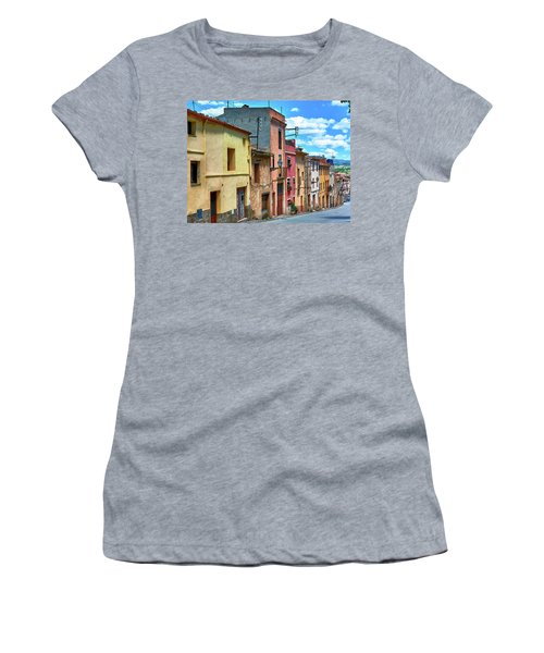 Colorful Old Houses In Tarragona Women's T-Shirt