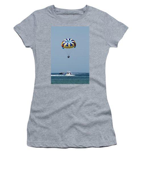 Colorful Parasailing Women's T-Shirt (Athletic Fit)