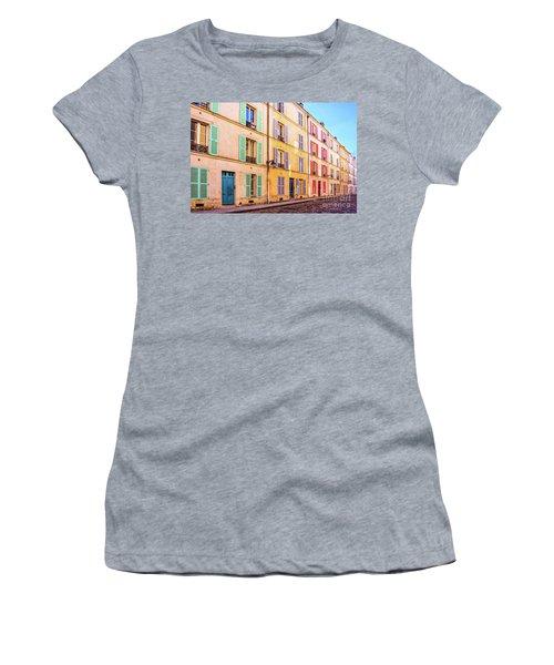 Colorful Street In Paris Women's T-Shirt