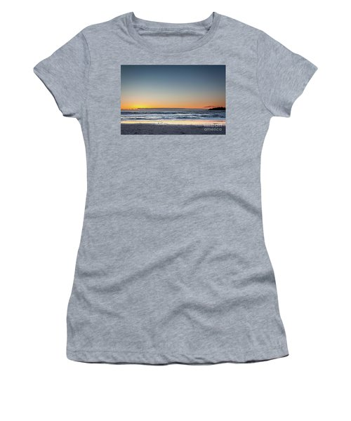 Colorful Sunset Over A Desserted Beach Women's T-Shirt