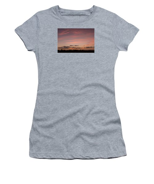Colorful Sunset Over The Wetlands Women's T-Shirt