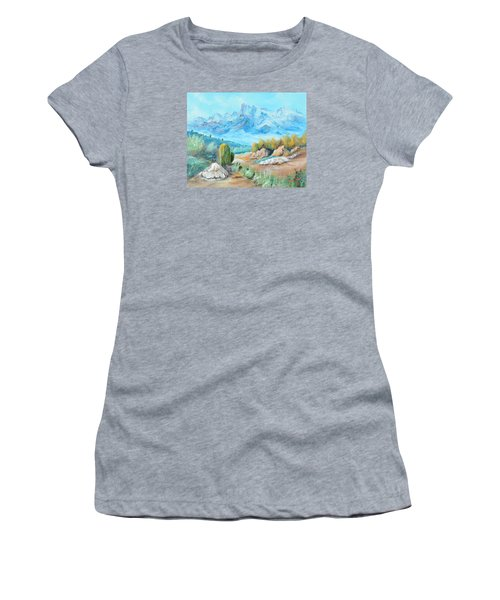 Colors In The High Desert Women's T-Shirt (Athletic Fit)
