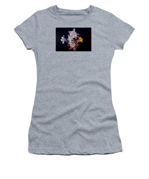 Columbine Medley Women's T-Shirt (Junior Cut) by Gary Lengyel