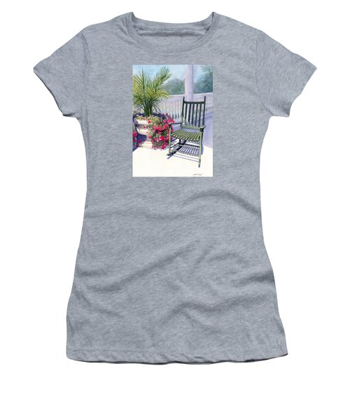 Women's T-Shirt (Junior Cut) featuring the painting Come Sit A Spell by Janet King