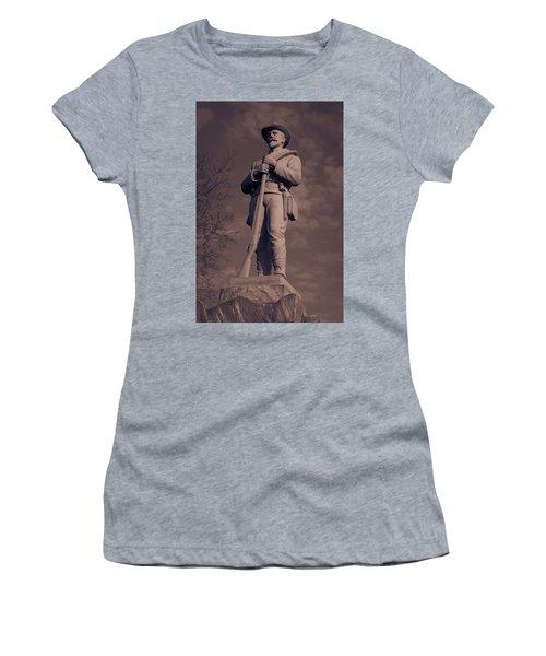 Confederate Statue  Standing Guard Women's T-Shirt