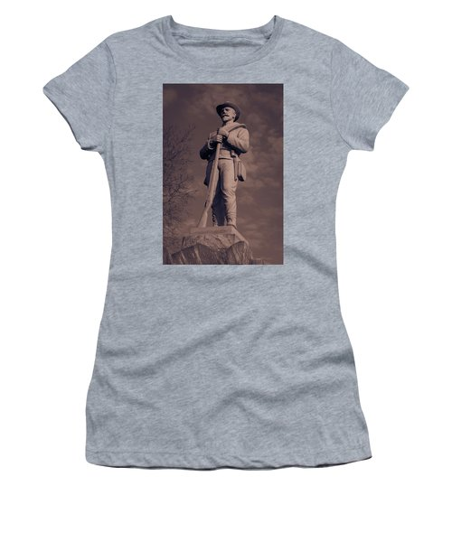 Confederate Statue  Standing Guard Women's T-Shirt