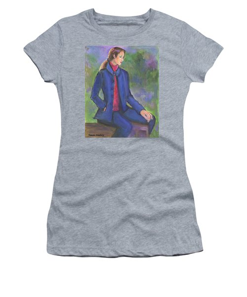 Contemplating Women's T-Shirt (Athletic Fit)