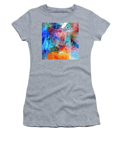 Women's T-Shirt (Junior Cut) featuring the painting Convergence by Dominic Piperata