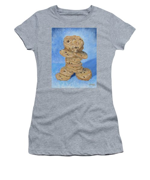 Women's T-Shirt featuring the painting Cookie Monster by Nancy Nale