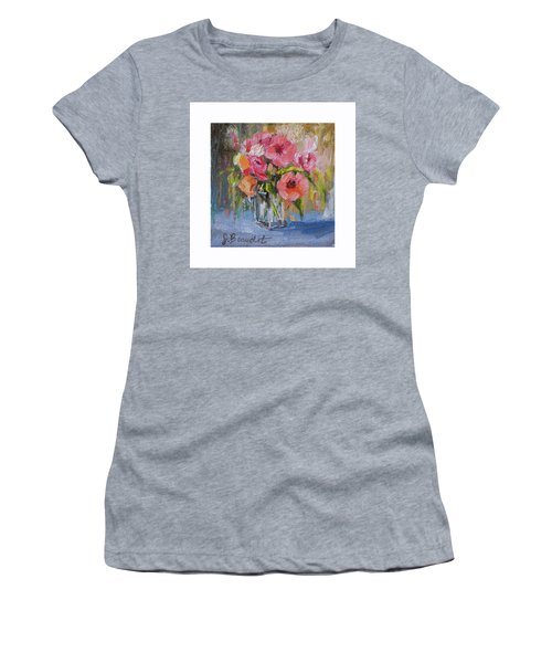 Women's T-Shirt (Junior Cut) featuring the painting Coral Bouquet by Jennifer Beaudet